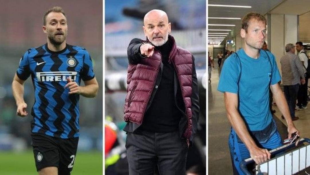 Christian Eriksen, 28 anni, all'Inter dal gennaio 2020;  Stefano Pioli (55), tecnico del Milan dall'ottobre 2019;  Alex Schwazer (35)