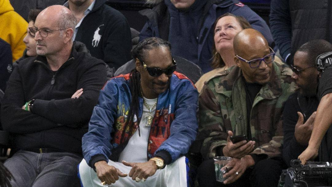 Snoop Dogg a una partita Nba EPA