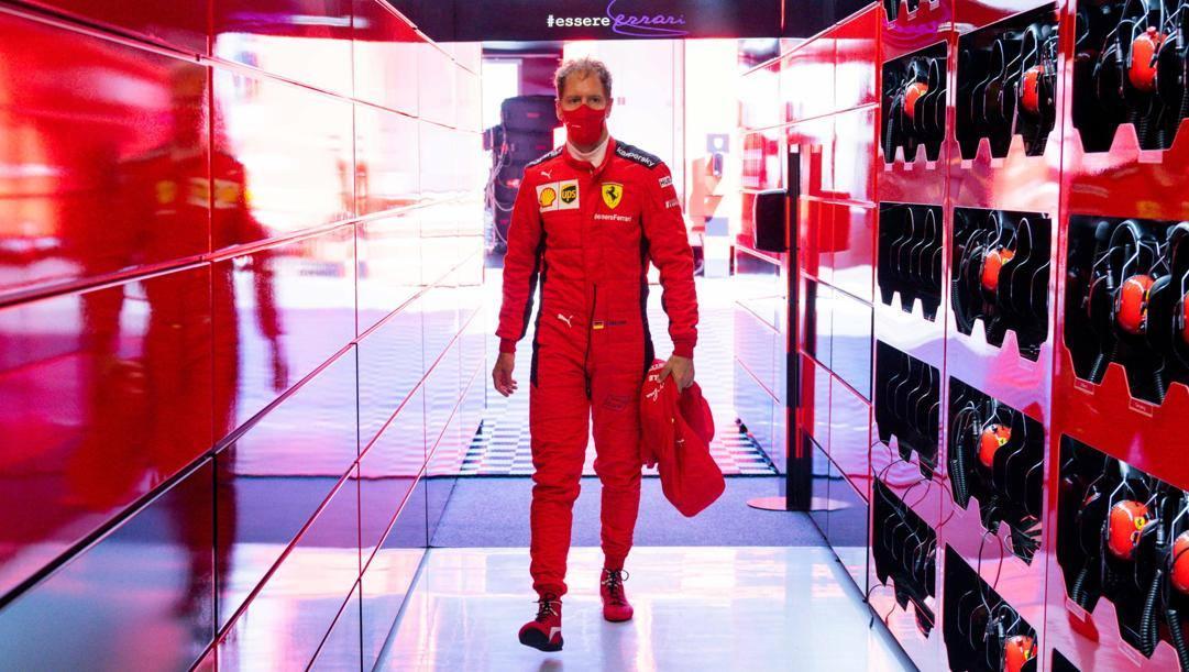 Sebastian Vettel, 33 anni, da 6 con la Ferrari. Epa