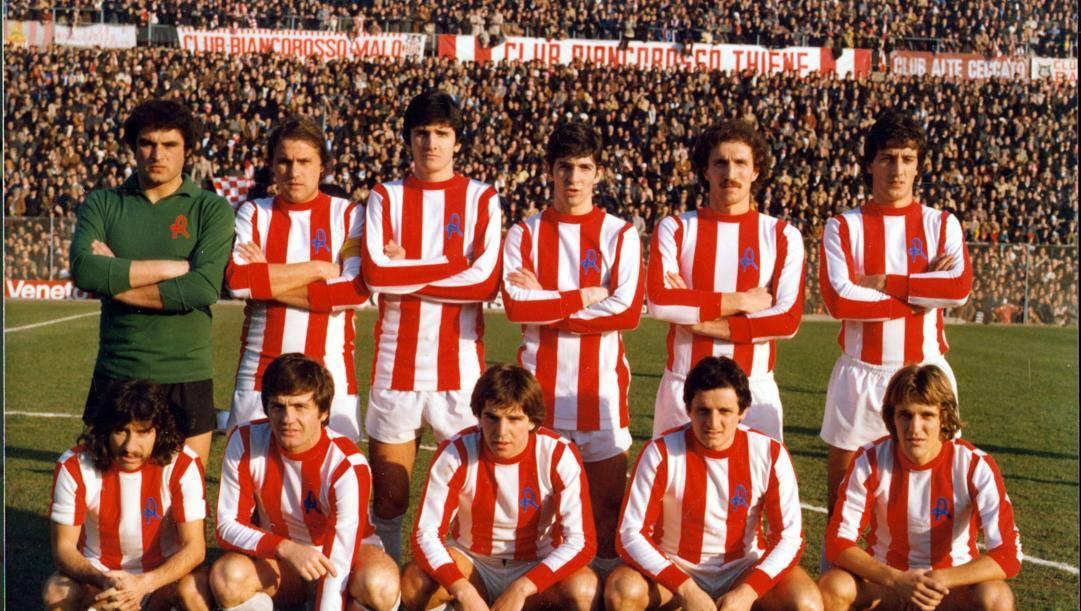 Il Lanerossi Vicenza nella Serie A 1977/78.