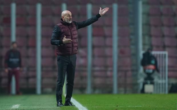 Stefano Pioli in azione. Lapresse