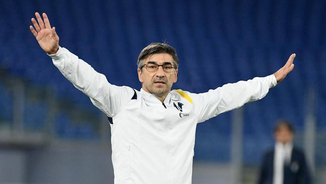 Juric, all'Olimpico, dopo Lazio-Verona. Getty