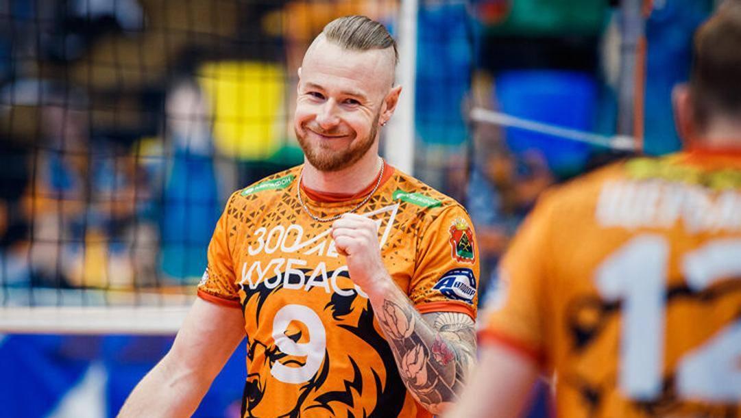 Ivan Zaytsev, 32 anni, con la maglia del Kemerovo