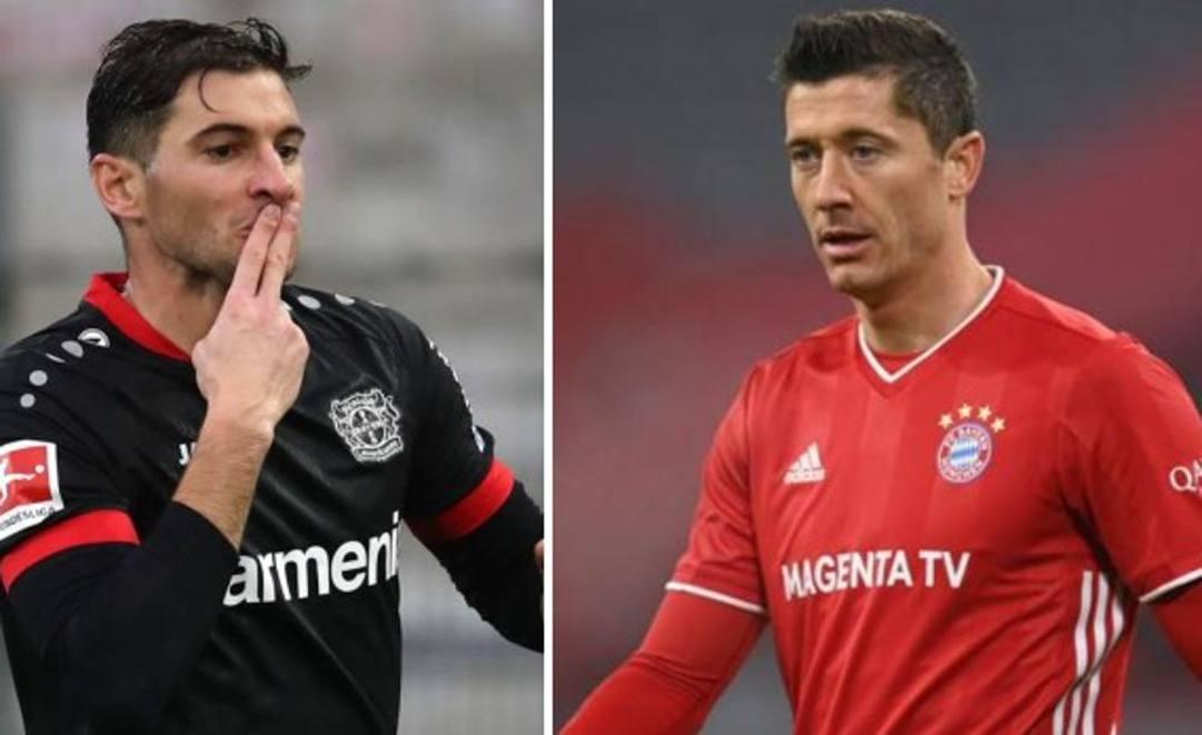 Alario (Bayer) e Lewandowski (Bayern), bomber pronti alla sfida