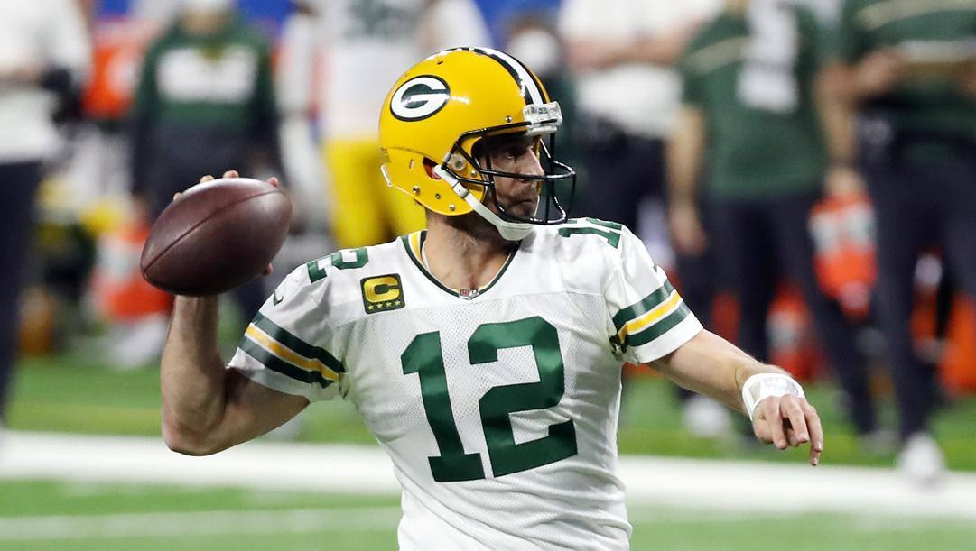 Aaron Rodgers, quarterback dei Green Bay Packers. Afp