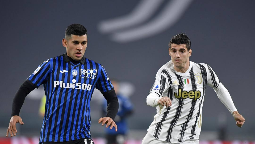 Romero in azione contro la Juve. Getty Images