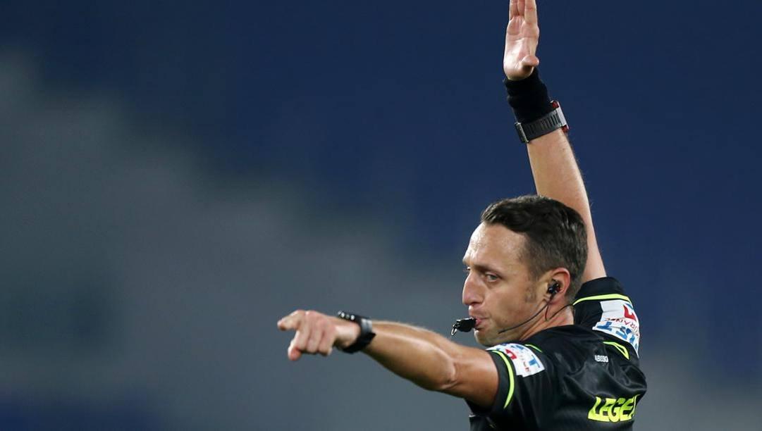 L'arbitro Rosario Abisso, protagonista negativo di Roma-Torino. Getty