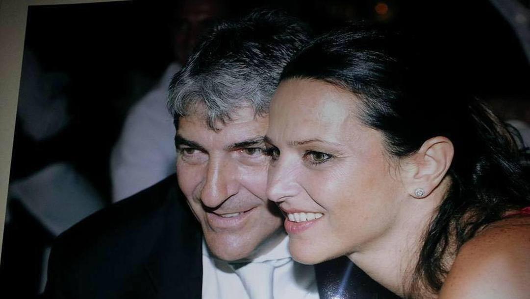 Paolo Rossi con la moglie, Federica Cappelletti. Ansa