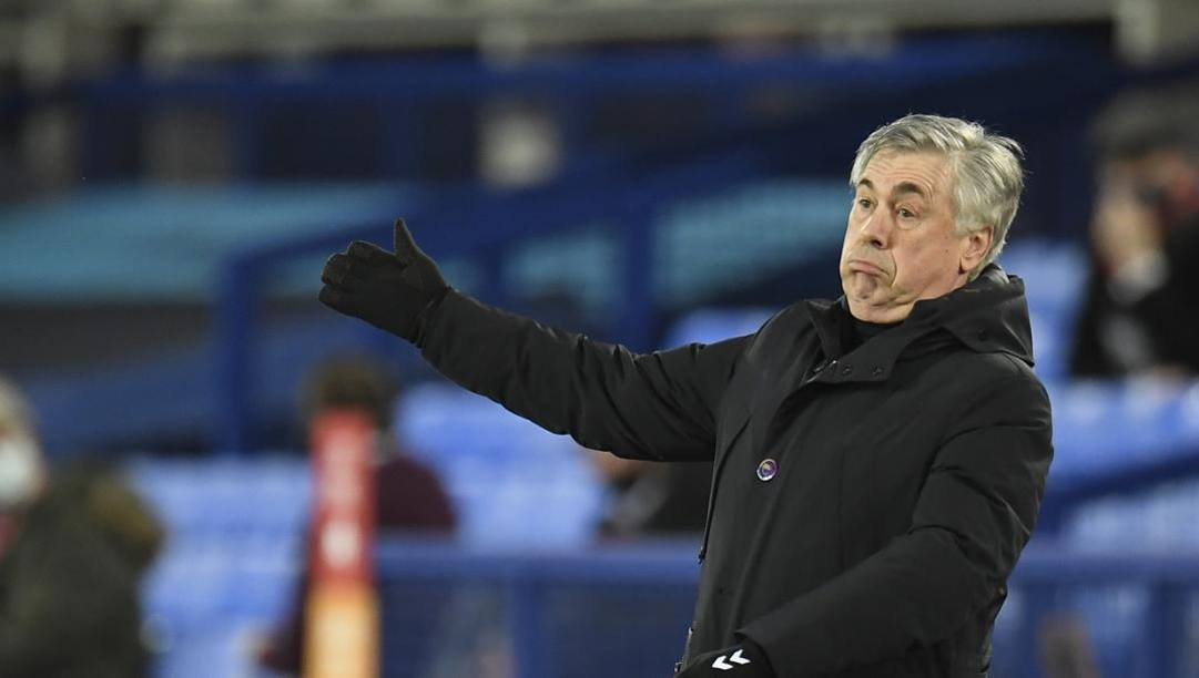 Carlo Ancelotti, seconda stagione all'Everton. LaPresse
