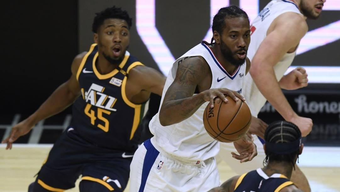 Kawhi Leonard, 29 anni, inizia la seconda stagione ai Clippers. Afp