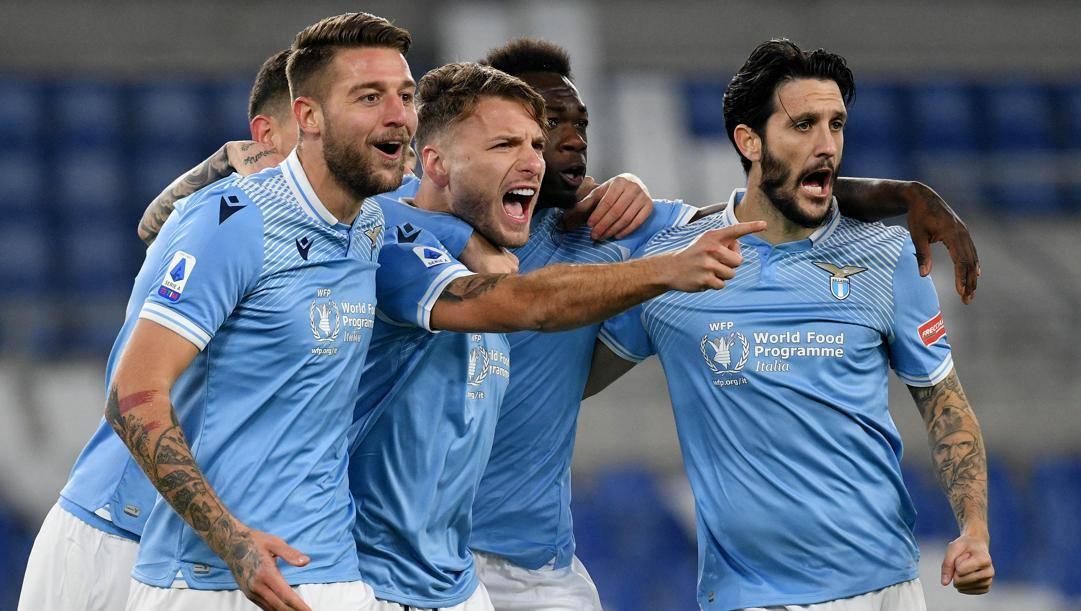 L'esultanza della Lazio. Getty
