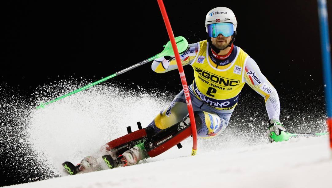 Sebastian Foss-Solevaag, 29 anni, in testa alla prima manche. Getty