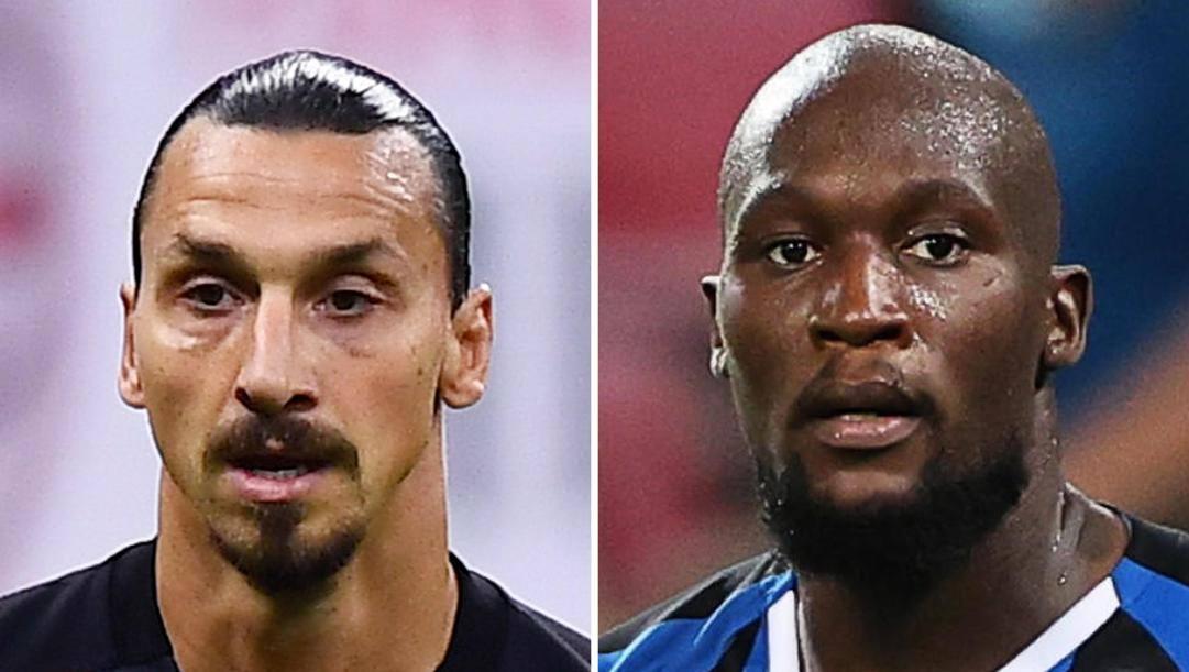 Zlatan Ibrahimovic e Romelu Lukaku. Ansa