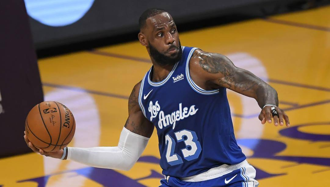 LeBron James, 35 anni, 18a stagione in Nba. Afp