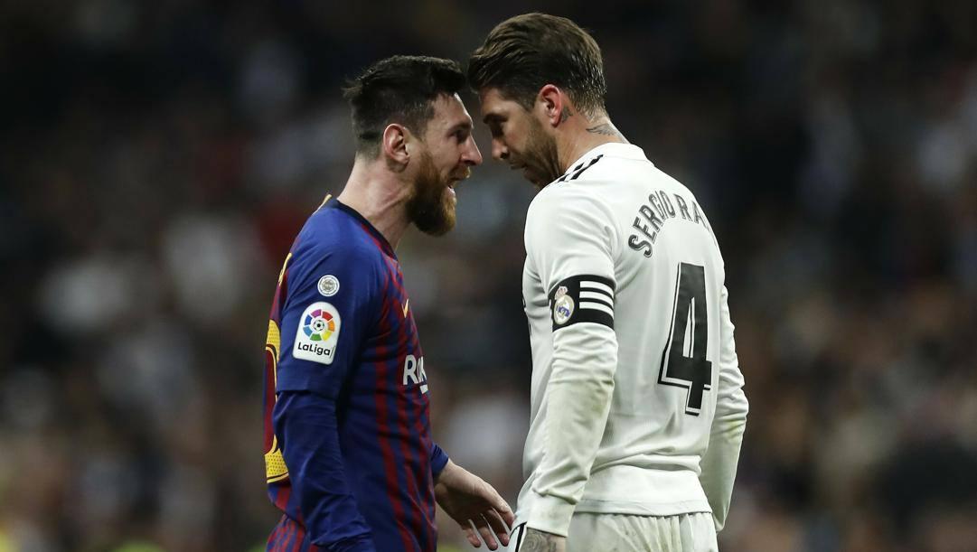 Leo Messi e Sergio Ramos. Ap