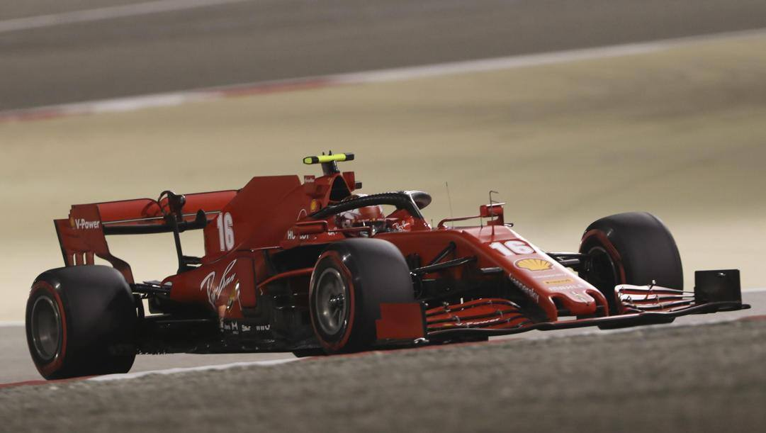La Ferrari SF1000 nel GP Abu Dhabi. Epa
