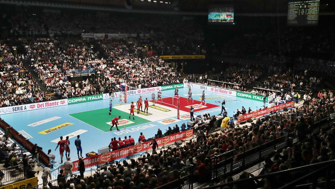 La finale di Coppa Italia 2020: l'ultimo evento disputato con il  pubblico. Zani/Legavolley