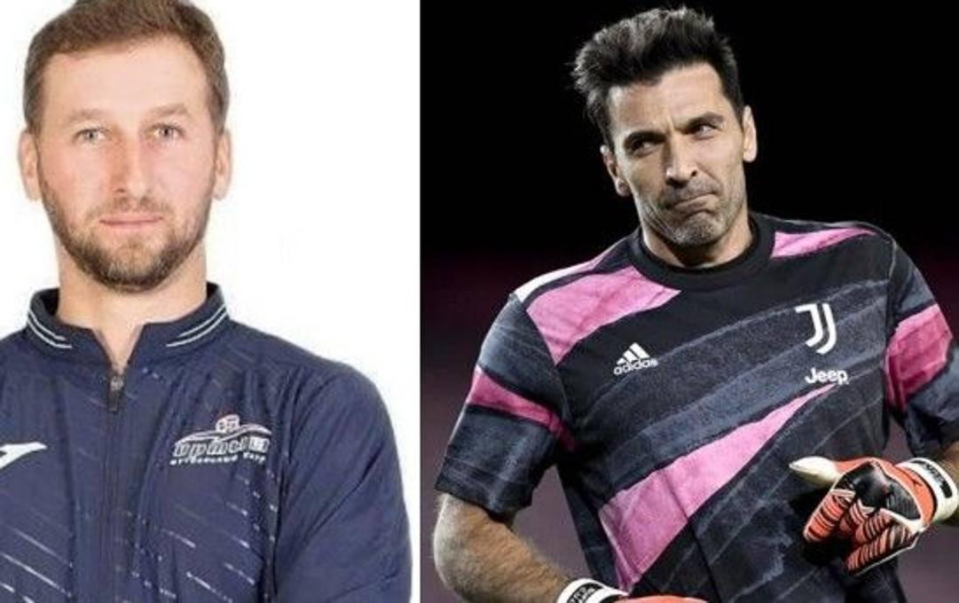 Frolov (a destra) e Buffon (a sinistra)