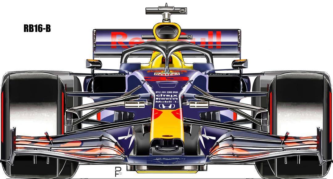 La vista frontale di come dovrebbe essere la RB16-B. Filisetti