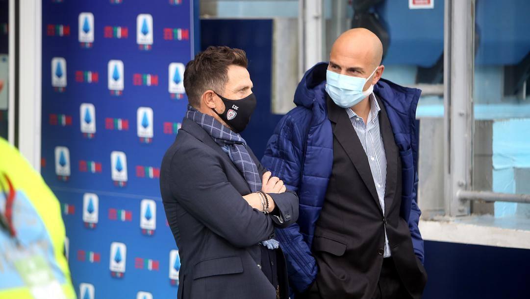 Tommaso Giulini con Eusebio Di Francesco. Getty