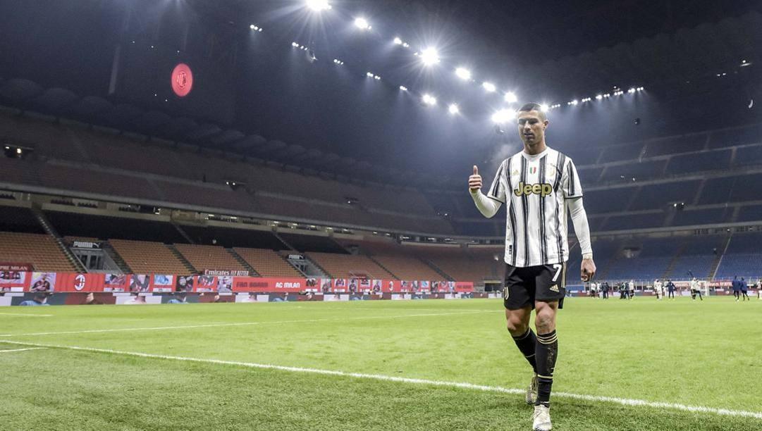 Cristiano Ronaldo a San Siro. GETTY