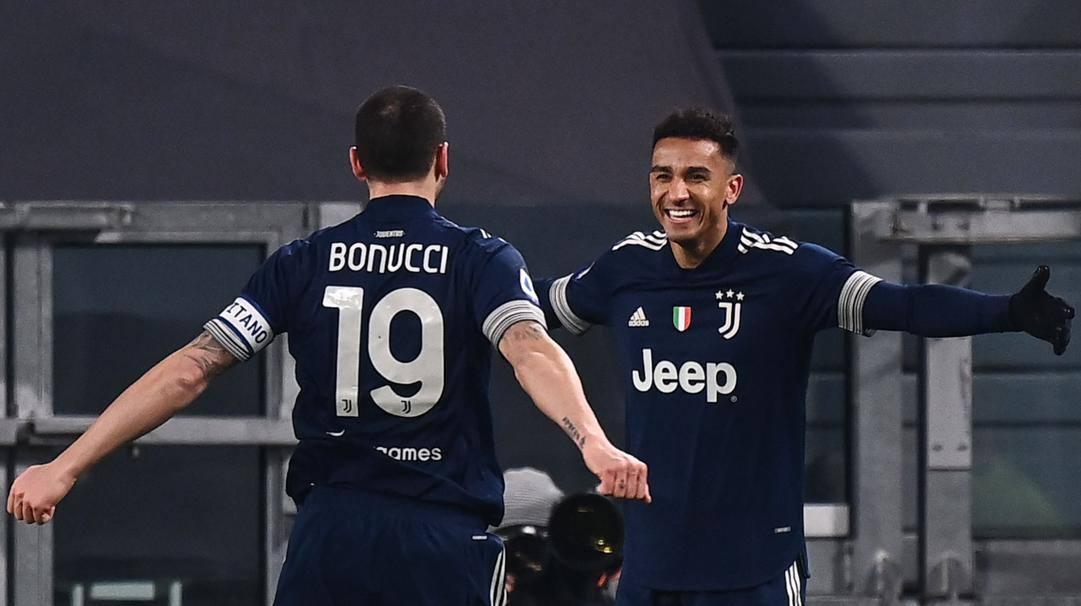 L'esultanza di Danilo dopo il gol al Sassuolo. Afp