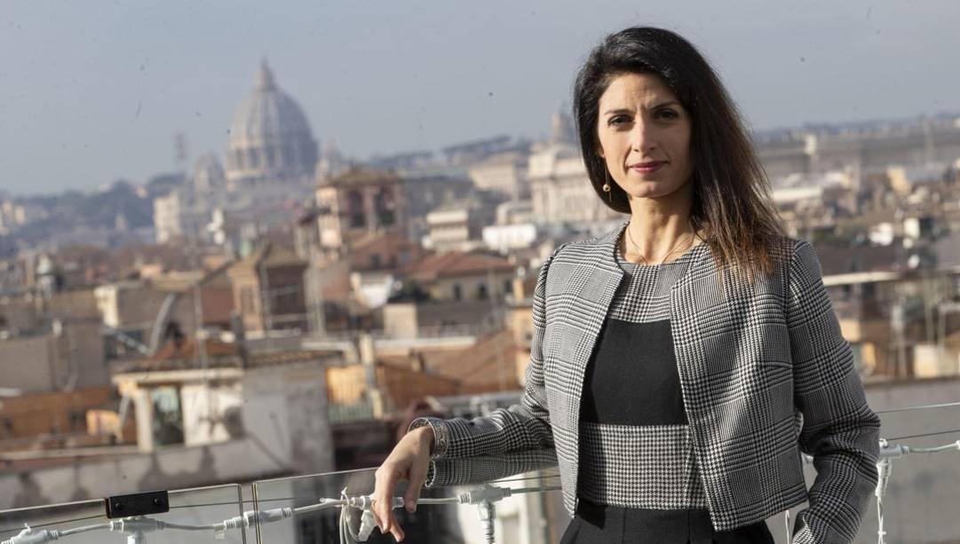Virginia Raggi, sindaca di Roma. Ansa
