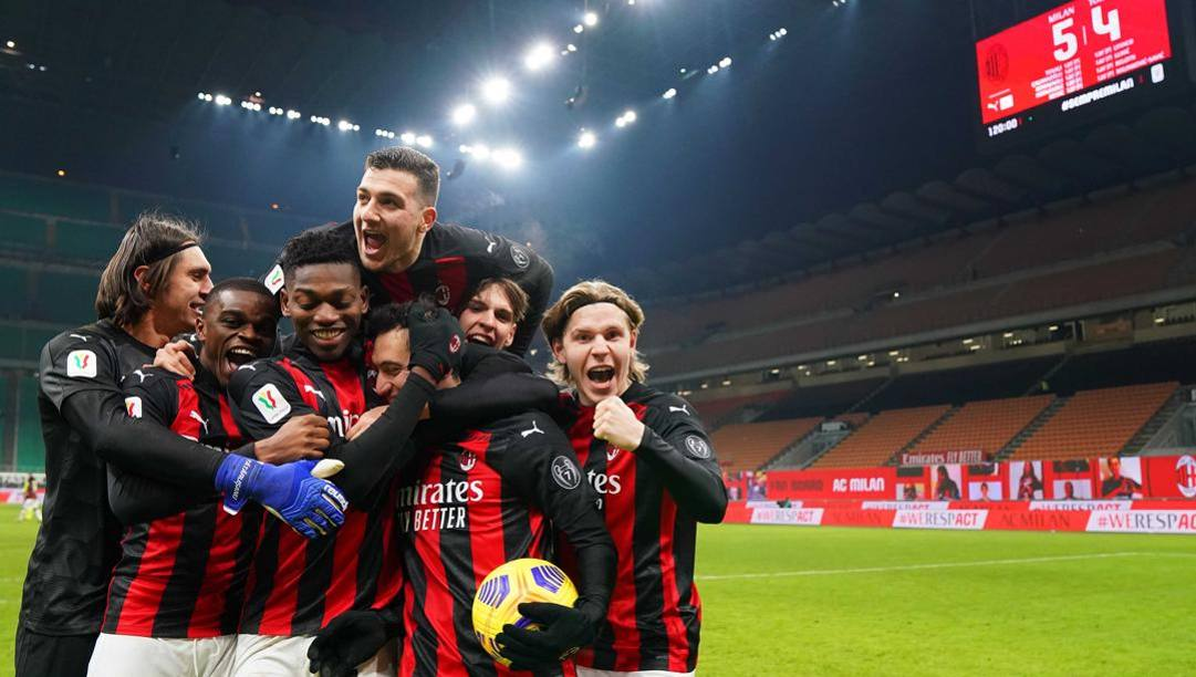 Milan, una famiglia felice. Lapresse