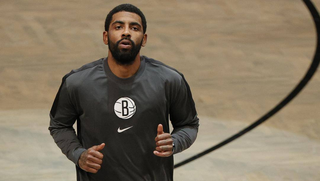 Kyrie Irving, 28 anni, seconda stagione ai Nets. Afp
