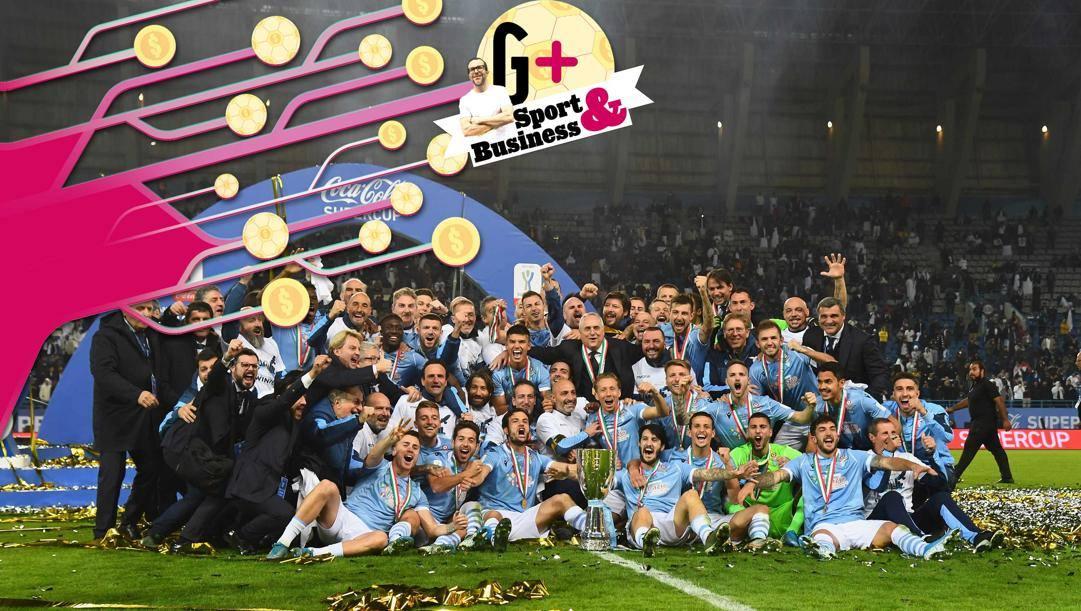 La festa Lazio dopo la Supercoppa