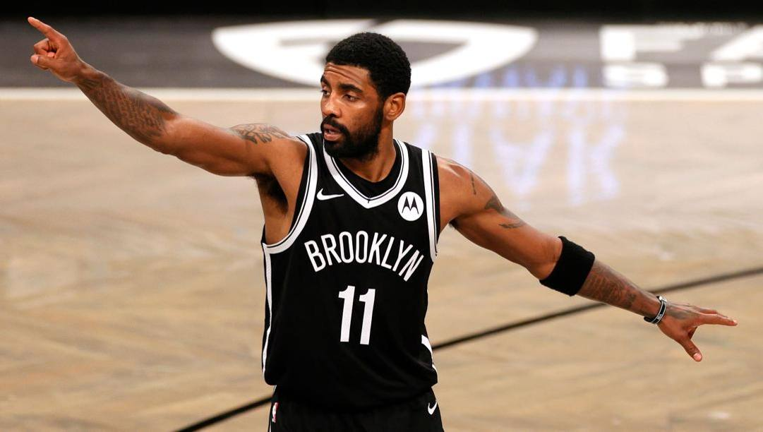 Kyrie Irving, 28 anni, seconda stagione a Brooklyn. Afp
