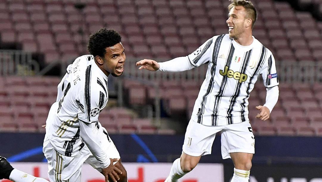 Weston McKennie e Arthur, prima stagione alla Juve. Getty