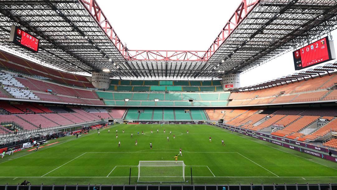 Una veduta dello stadio Meazza di Milano. Getty