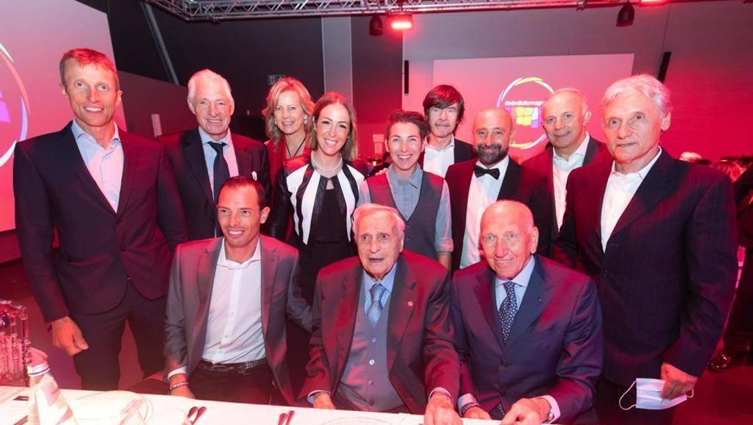 La serata al Mondiale di Imola che ha dato la scintilla: Beppe Saronni il primo da destra