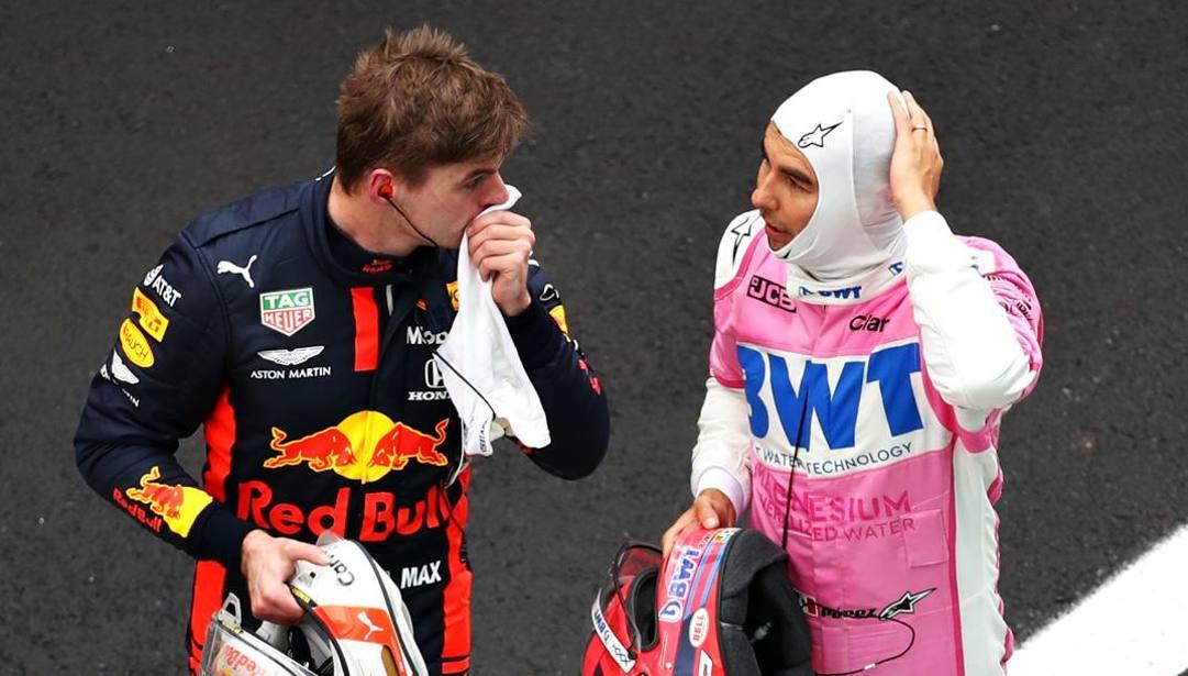 Max Verstappen (a sin.) e Sergio Perez GETTY