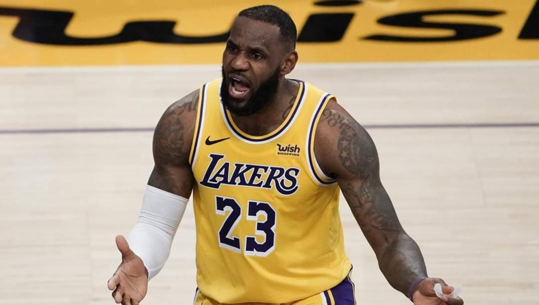 LeBron James, 36 anni, terza stagione ai Lakers. LaPresse