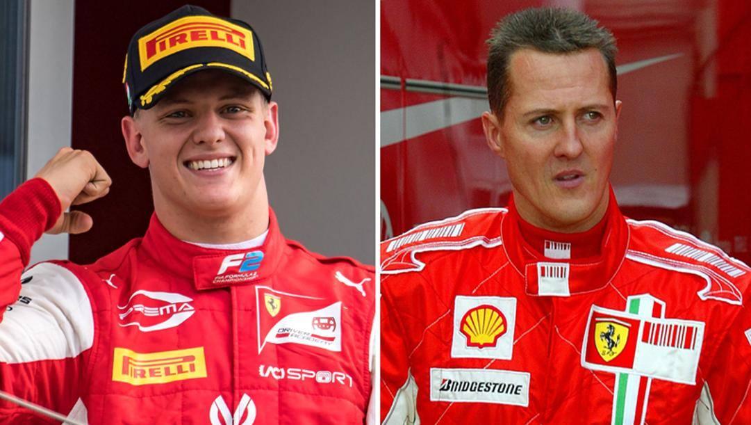 Mick Schumacher, 21 anni, e papà Michael, 52