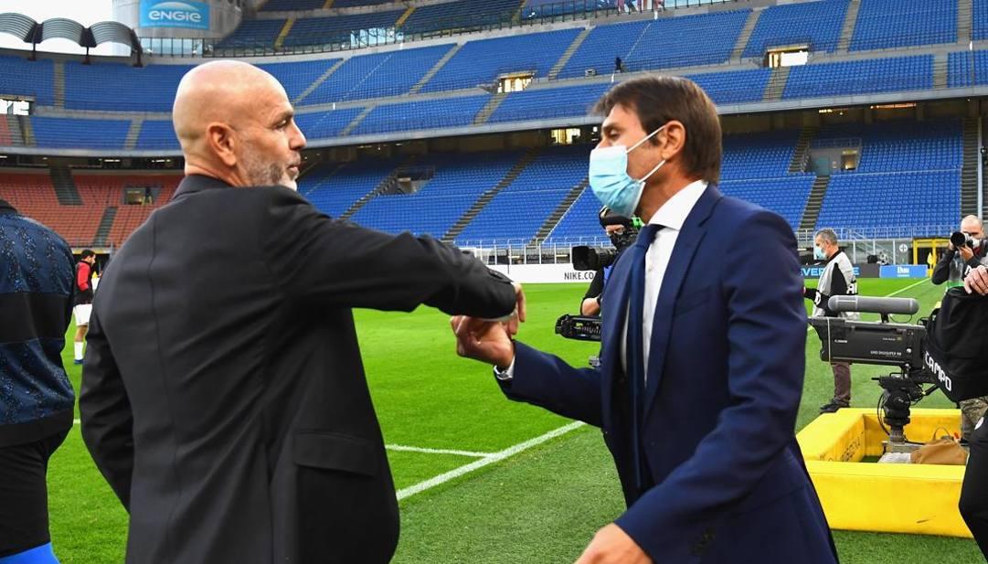 Stefano Pioli e Antonio Conte. Getty