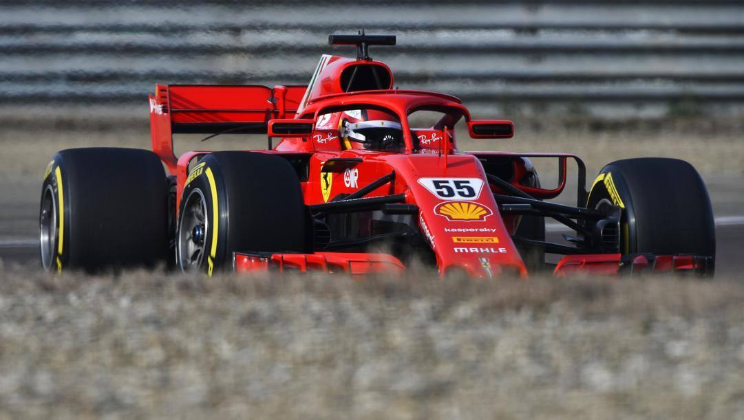 L'esordio di Carlos Sainz sulla Ferrari a Fiorano. Getty