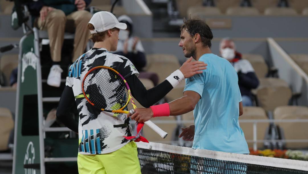 Jannik Sinner e Rafa Nadal al Roland Garros