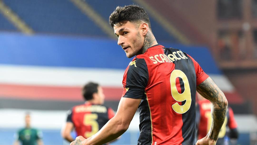 Gianluca Scamacca, attaccante del Genoa in prestito dal Sassuolo. Getty