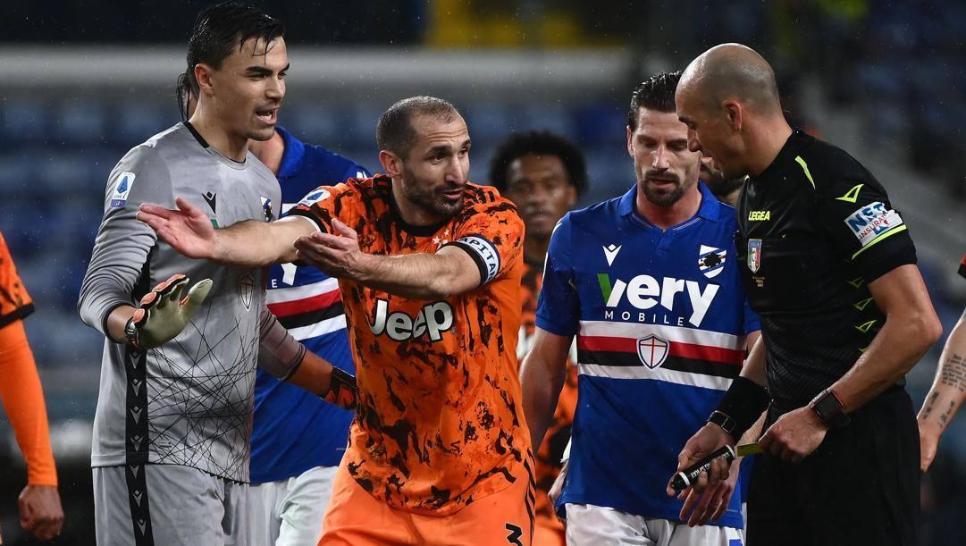 Giorgio Chiellini, 36 anni, è il migliore della Juve. Afp