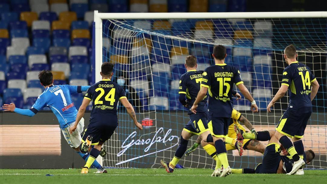 Lo splendido gol di Elmas. Lapresse