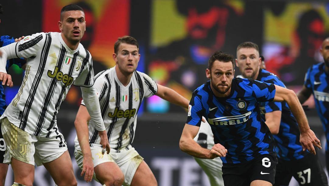 Una fase di Inter-Juventus, semifinale d'andata di Coppa Italia (GETTY)