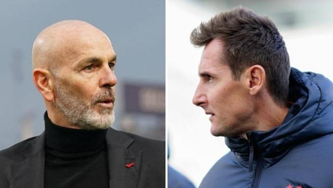 Stefano Pioli e Miroslav Klose