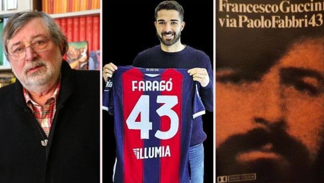 Francesco Guccini, Paolo Faragò e la copertina dell'LP Via Paolo Fabbri 43