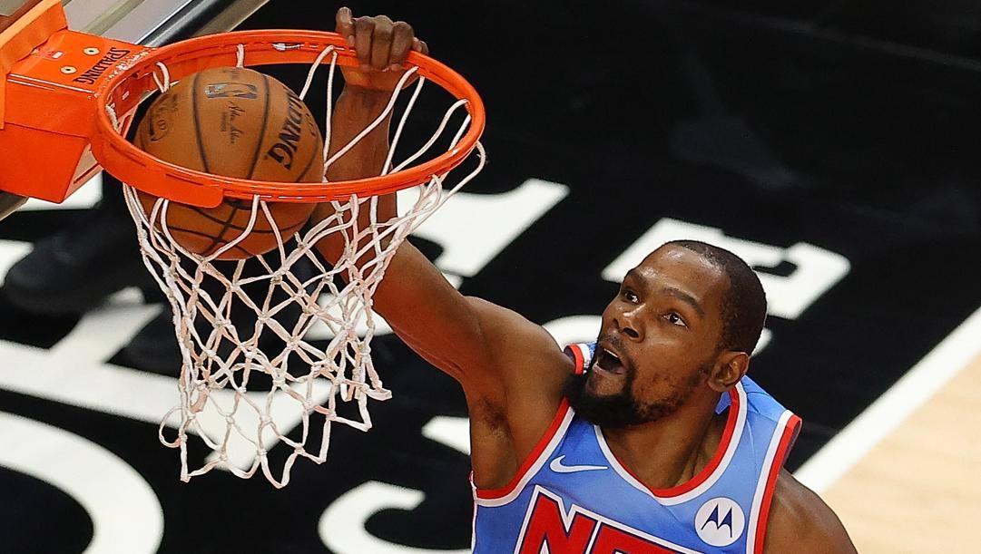 Kevin Durant, 32 anni, seconda stagione ai Nets. Afp