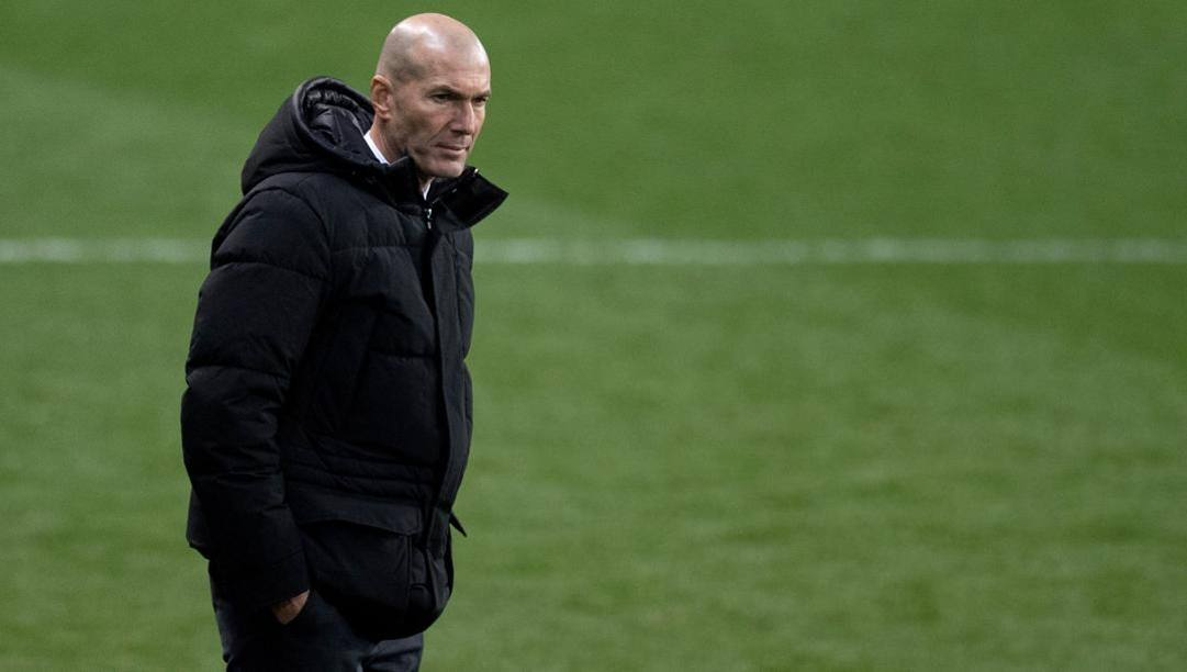 Zinedine Zidane, la cui panchina traballa di nuovo. AFP