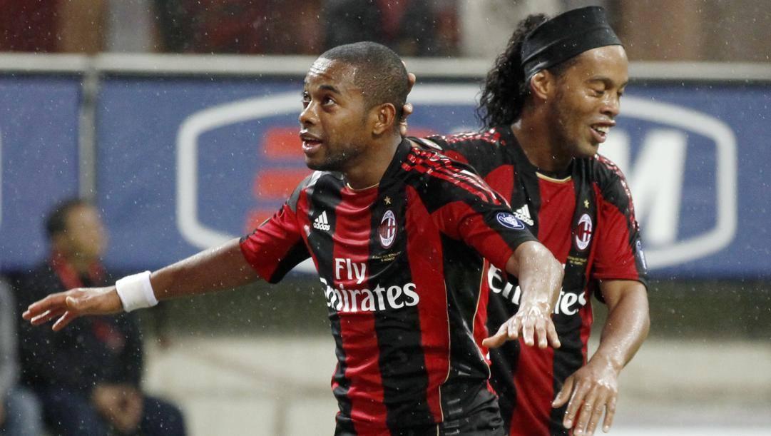 I brasiliani Robinho e Ronaldinho. Ap