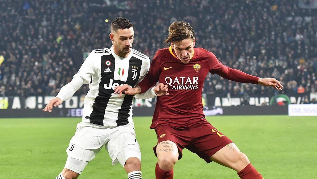 Nicolò Zaniolo in azione contro la Juventus. Ansa